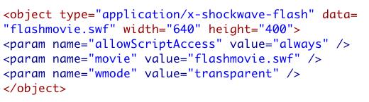 Transparent SWF Code