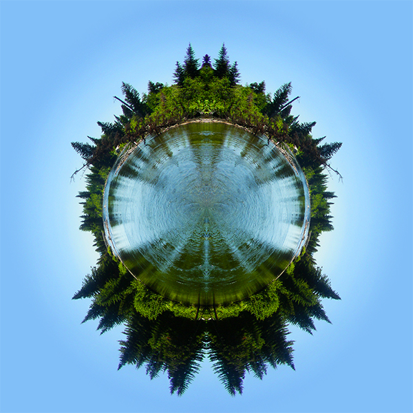 Cottonwood Creek Mirrored Stereographic Projection