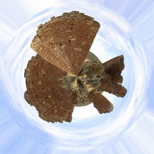 Hovenweep Stereographic Projection by K. Bradley Washburn
