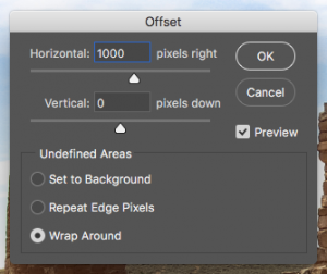 Photoshop Offset Dialog Box