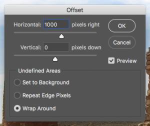 Photoshop Offset Dialog Box