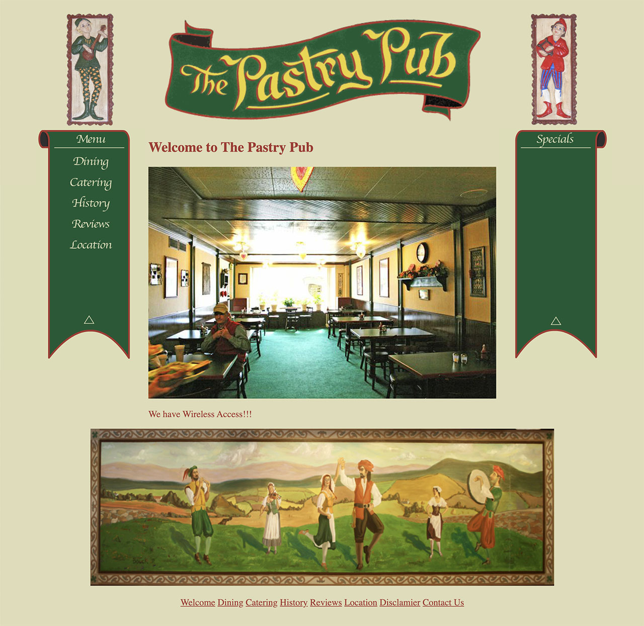 The Pastry Pub website